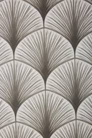 Frond Geometric Gray Fan Wallpaper