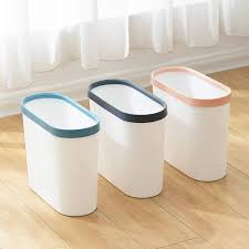Vigor Rectangular Sleek Narrow Trash Can Stylish Truck Camper Cabinet Under Sink Wastebasket Cool Edges For Bathroom Home Office Dorm Kids Room Shatter Resistant Very Light Weight 3 Pcs Walmart Com