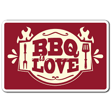 Bbq Love 3 Pack Of Vinyl Decal Stickers Decoration For Laptop Car Walmart Com Walmart Com