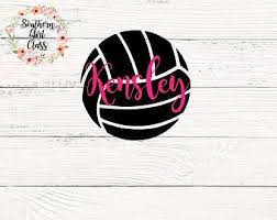 Volleyball Decal Etsy