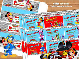Kit Imprimible Mickey Aventuras Sobre Ruedas Cotillon Editar