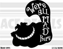 Alice In Wonderland Cheshire Cat Vinyl Car Window Door Wall Sticker Decor White For Sale Online Ebay