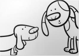 Poster Boze Blaffende Honden Kleurplaat Pixers We Leven Om Te