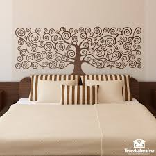 Bed Headboard Wall Stickers Tree Of Life By Klimt Muraldecal Com