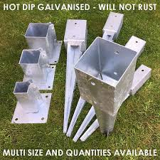4 100mm Heavy Duty Galvanised Fence Post Spike 10