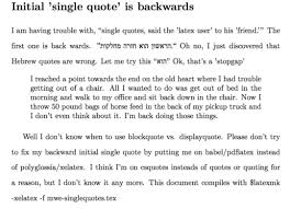 initial single quote is backwards csquotes