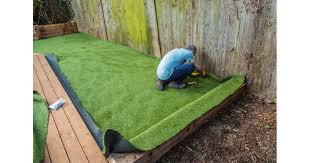 garden for artificial grass installation