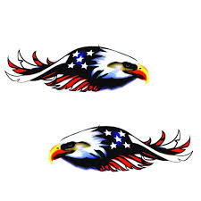 1 Set 2pcs Personalized Flying Eagle Graphics Car Decal Car Truck Sideways American Flag Sticker Strong Visual Impact Multicolor Car Stickers Aliexpress