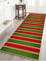 striped print waterproof area rug
