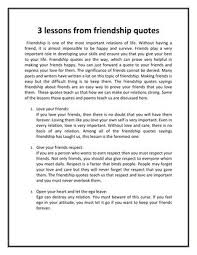 lessons from friendship quotes by tejprakash sharma issuu