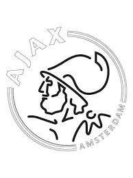 Kids N Fun Kleurplaat Voetbalclubs Nederland Ajax