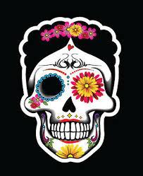 Sugar Skull Frida Decal Car Window Vinyl Sticker Day Of The Dead Mexican Calaver Ebay