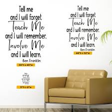 Teach Me Involve Me Ben Franklin Quote 0484 Classroom Etsy
