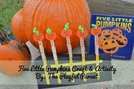 Five Little Pumpkins Craft Activity