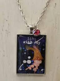 live with joy pendant necklace