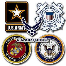 Us Military Bumper Sticker Logos Army Navy Marines Coast Guard Air Force Decal Ebay