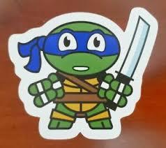 Tmnt Mutant Ninja Turtles Leonardo Sticker Decal Car Laptop Cute Ebay