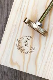 custom wood branding iron initials wood