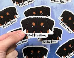 Rottweiler Mom Decal Etsy