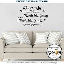 Friend Family Home Wall Decor Vinyl Stickers Art Quote Mural Home Decal 041 Ebay