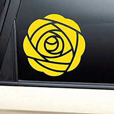 Amazon Com Yellow Rose Vinyl Decal Laptop Car Truck Bumper Window Sticker Kitchen Dining