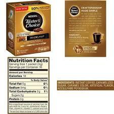 choice instant coffee beverage hazelnut
