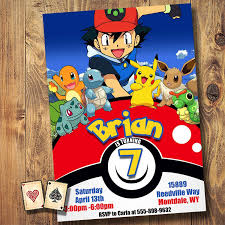 Pokeball Lineup Invitation Detective Pikachu Pokemon Invite
