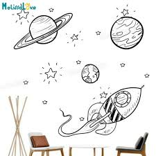 Waliicorners Baby Wall Sticker Explore The Unknown Universe For Kids Room Decals 3d Self Adhesive Vinyl Wall Art Murals Unique Gift Yy825 Waliicorner S Store