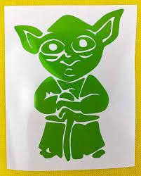 Amazon Com Yoda Star Wars Green Vinyl Decal New Gift Handmade