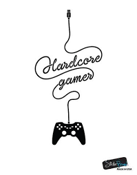 Hardcore Gamer Wall Decal Sticker Design Perfect For Your Xbox Playstation Gamer 6098 Stickerbrand