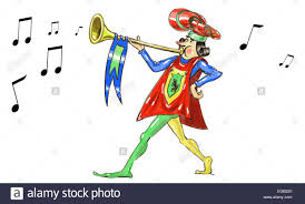 Medieval Trumpet Cut Out Stock Images & Pictures - Alamy