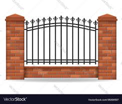 Brick Fence Royalty Free Vector Image Vectorstock