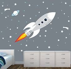 Space Wall Decal For Baby Nursery Or Boys Room Space Wall Decals Nursery Wall Decals Space Decals