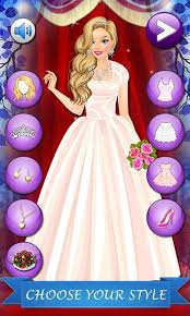 barbie royal wedding dress up games