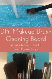 diy makeup brush cleaning board brush
