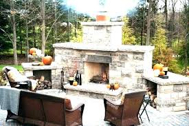 small outdoor fireplace brick plans