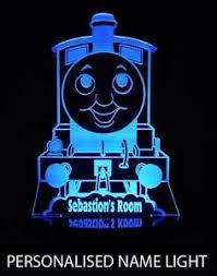 Thomas The Tank Engine Personalized Name Led Night Light Colour Change Kids Room Ebay