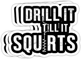 Amazon Com Goldbabytee Funny Drill It Till It Squirts For Ice Fishing Lovers 4x3 Vinyl Stickers Laptop Decal Water Bottle Sticker Set Of 3 Home Kitchen