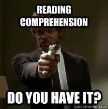 READING COMPREHENSION DO YOU HAVE IT? - Pulp Fiction meme - quickmeme