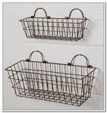 idea wall hanging storage baskets wire