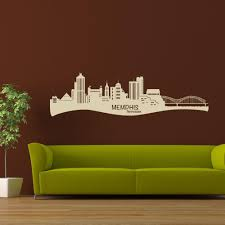 Memphis City Skyline Wall Decal Style And Apply