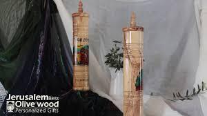 olivewood megillah scroll case