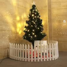 10pcs Diy Splicing Garden Ornament Fence Christmas White Plastic Fence Garden Fence Decorative Shopee Philippines
