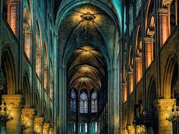 wallpaper cathedral notre dame indoor