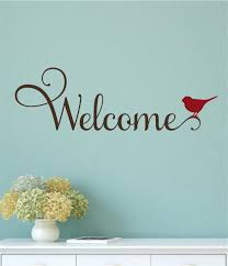 Welcome Bird Vinyl Decal Wall Stickers Letters Words Entryway Home Decor Wall Decor Stickers Door Stickers Wall Decals