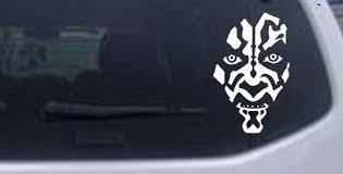 5 5in X 8 5in White Star Wars Darth Maul Car Window Wall Laptop Decal Sticker On Star Wars