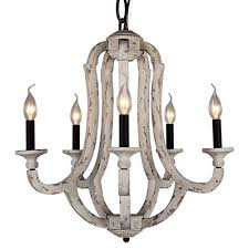vintage wooden chandelier pendant lamp