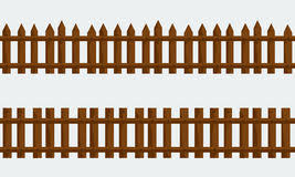 Wooden Farm Fence Vector With Flat And Solid Color Stock Vector Illustration Of Collection Nail 84839355