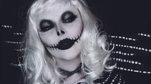 lady jack skellington makeup tutorial