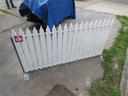 20 X Picket Fence Panel White Steel Frame With Wooden Pickets Auction 0093 3007926 Graysonline Australia